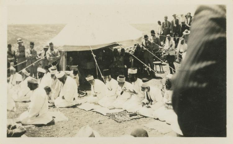 Collection of Photographs - Samaritan Prayers and the Sacrificial Passover Ritual on Mount Gerizim