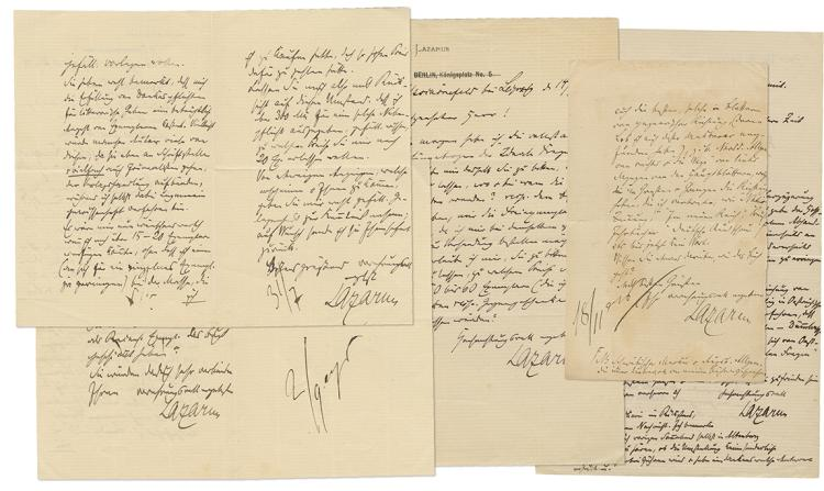 Collection of Letters by Prof. Moritz (Moshe) Lazarus - Germany, 1878