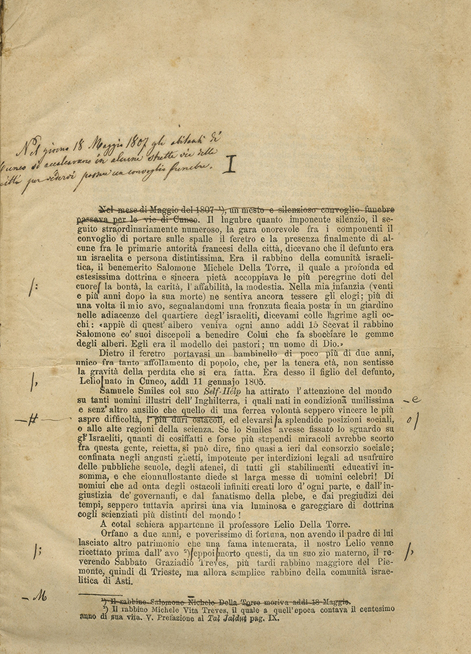 Collection of Manuscripts and Booklets in Memory of Prof. Hillel Della Torre - Italy, 1872
