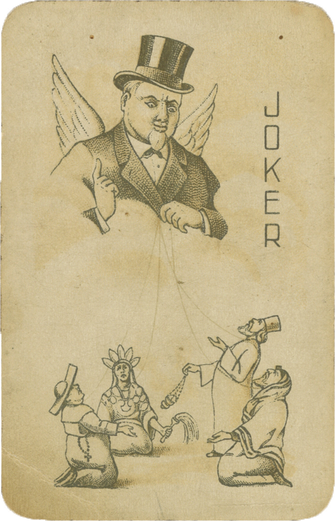 Deck of Anti-Religious Playing Cards - Soviet Union, ca. 1930 - Illustrations of Jewish Figures