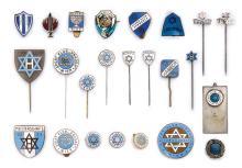 Jewish Sport Organizations in Vienna - Collection of Pins