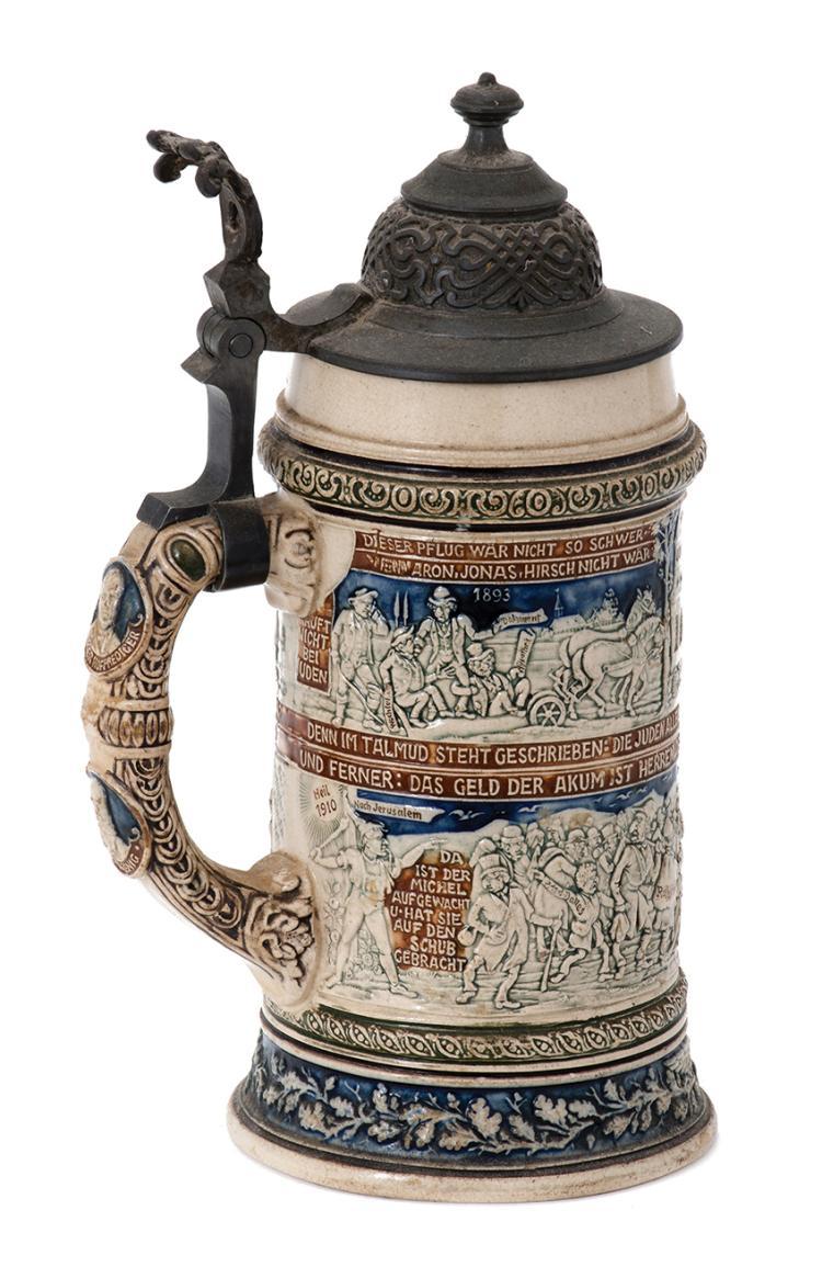 Anti-Semitic Beer Jug - Germany, 1893