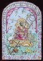 King Solomon with Animals - Colored Enamel Board - Persia