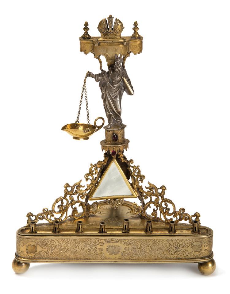 Hanukkah Lamp - Birmingham, 19th Century - Sir Edward Thomason