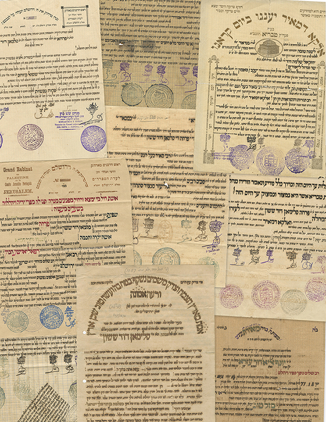 Collection of Missives, Letters and Emissary's Letters - Sassoon Family Archives - Signatures of Eretz Israeli Rabbis, 19th and 20th Centuries