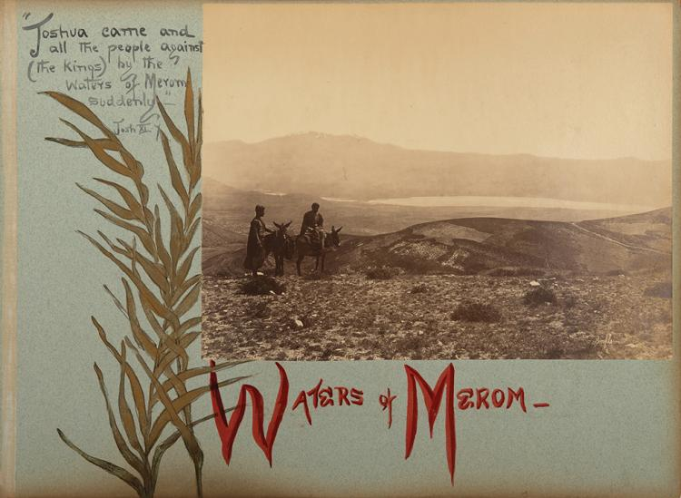Four Monumental Photograph Albums - Travels in Eretz Israel and its Surroundings in 1894