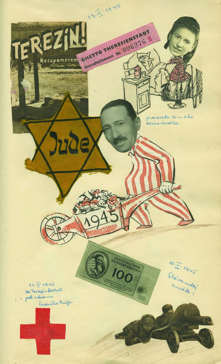 Album with Photographs, Collages and Hand-drawn Illustrations - A Jewish Family from Bratislava during the Holocaust
