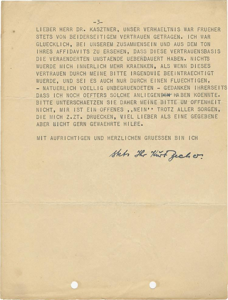 Israel Kastner - Archive of Letters, Protocols and Certificates, Mid-1940s through Mid-1950s