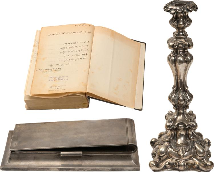 Collection of Items from the Home of the Husiatyn Rebbes