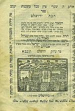 Sefer Chibat Yerushalayim - First Edition, Jerusalem, 1804