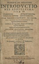 Introductiones Apotelesmaticae – Astrology and Physiognomy – Johanne of Indagine – Strassburg, 1622