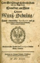 Collection of Orders, Decrees and Manifests – Engravings of Coins – Germany, 1693-1790