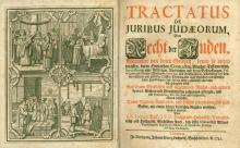 Study about Laws and Rights of Jews in Germany – Nuremberg, 1741