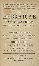 First Monograph on the Subject of Hebrew Incunabula – Germany, 1778