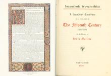 Collection of Books about Early Printing ? Facsimiles and Prints