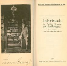 Collection of Books about Printing, Typography and Collecting Books as a Hobby and as a Profession ? Germany, 1911-1927
