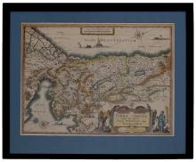 Map of Eretz Israel ? Engraving ? Amsterdam, 1629