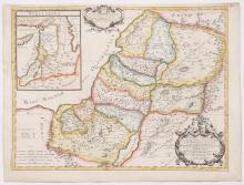 Map of Eretz Israel in its Division to the Kingdoms of Judea and Israel ? Hand-Colored Engraving