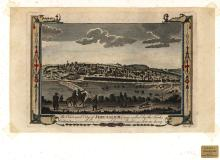 Panorama of Jerusalem ? Engraving Colored by Hand ? 18th century