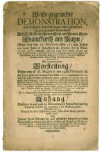 Frankfurt Jewry ? Document following the Fire in the Jewish Ghetto, 1711