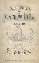 Sheet Music for Jewish Prayers and Melodies ? Germany, France and Poland, 1851 and on