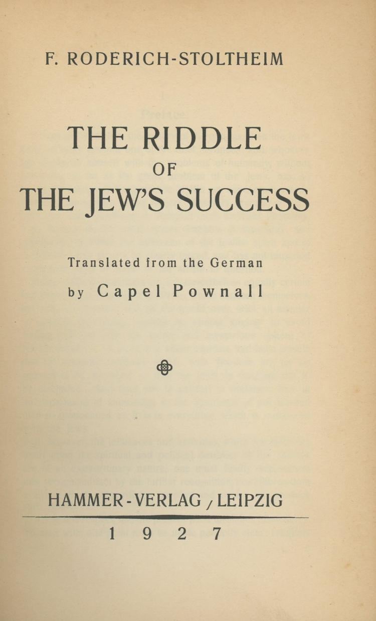 the success of judaism Written by economists maristella botticini and zvi eckstein, the paper explained  jewish success in terms of early literacy in the wake of rome's.