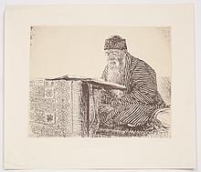 Four Reproductions of Engravings ? Ephraim Moshe Lilien ? 1970s
