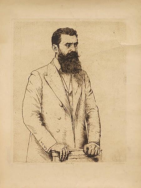 Herzl's Portraits by Hermann Struck