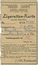 Collection of Paper Items - Lodz Ghetto