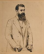Portrait of Theodor Herzl - Hermann Struck