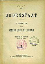 Der Judenstaat - Theodor Herzl - First Edition, 1896