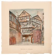 Houses of the Jewish Street – Peter Becker – Print