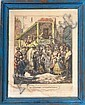 An 18th Century Jewish Wedding - Painted Woodcut, Nándor Brenner, Click for value