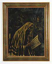 Jews Studying Torah - Oil Painting by Arthur Bryks