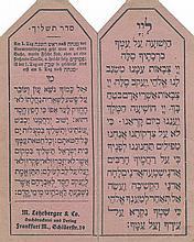 Printed Cards With the Tashlich Prayer - Germany
