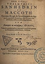 Mishnayot Sanhedrin and Makot - Hebrew-Latin Edition - Amsterdam, 1629