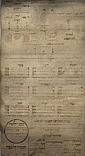 Section of Ilan HaSefirot - Handwritten on Parchment