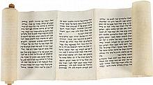 Esther Scroll and Leaf with Megillah Verses and Blessings