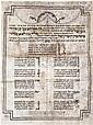 Manuscript on Parchment -Wedding Blessing Poem, 1805