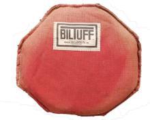 Red canvas BilTuff iron palm bag