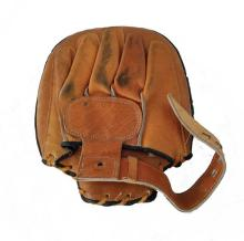 Brown and black leather focus mitt owned and used by Bruce Lee