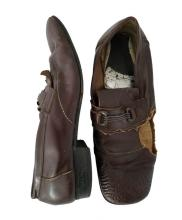 Pair of brown leather shoes owned and worn by Bruce Lee
