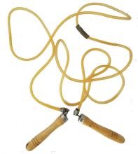 Top-quality wood-handled rubber tube jump rope