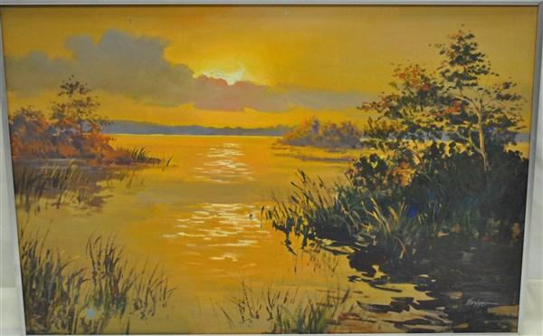 Alexander Kortner Oil on Canvas Waterscape