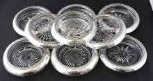 Assorted Sterling Silver & Silver Plate Coasters