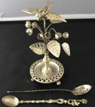 Three Assorted Sterling & Continental Silver Items