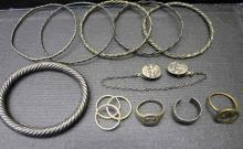 Assorted Sterling, Silver & Costume Jewelry