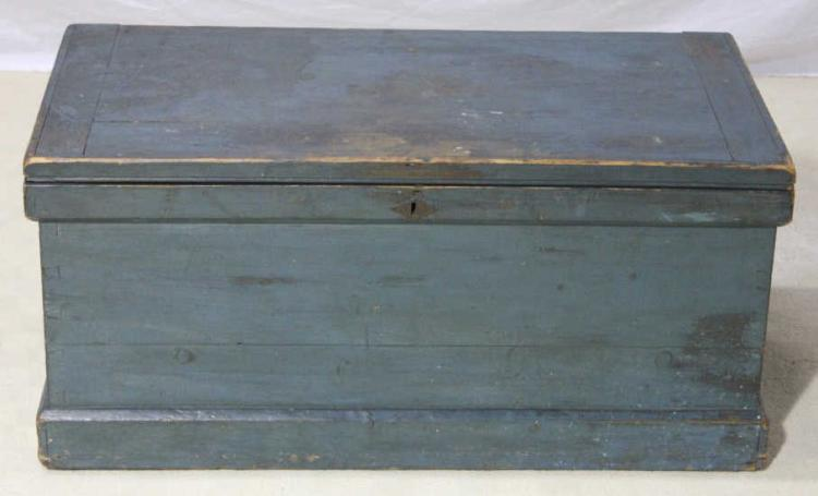 Antique Continental Painted Blanket Chest Trunk