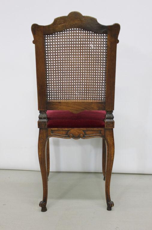 antique cane back french upholstered desk chair. Black Bedroom Furniture Sets. Home Design Ideas