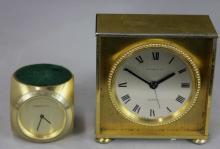 Two Tiffany & Co. Table Clocks